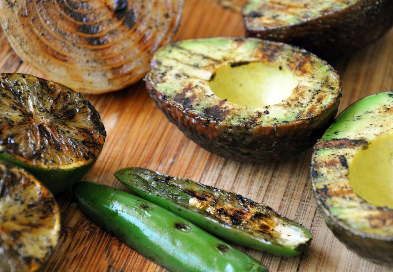 Grilled Avocado and Gluten Free Vegan Guacamole