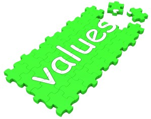 Values Puzzle Shows Principles, Morality And Ideology