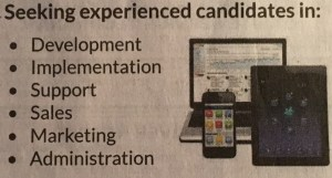 Seeking experienced candidates in