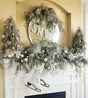 Create A Super Cute Christmas Wreath Using Some Old Ice Skates And Sweater