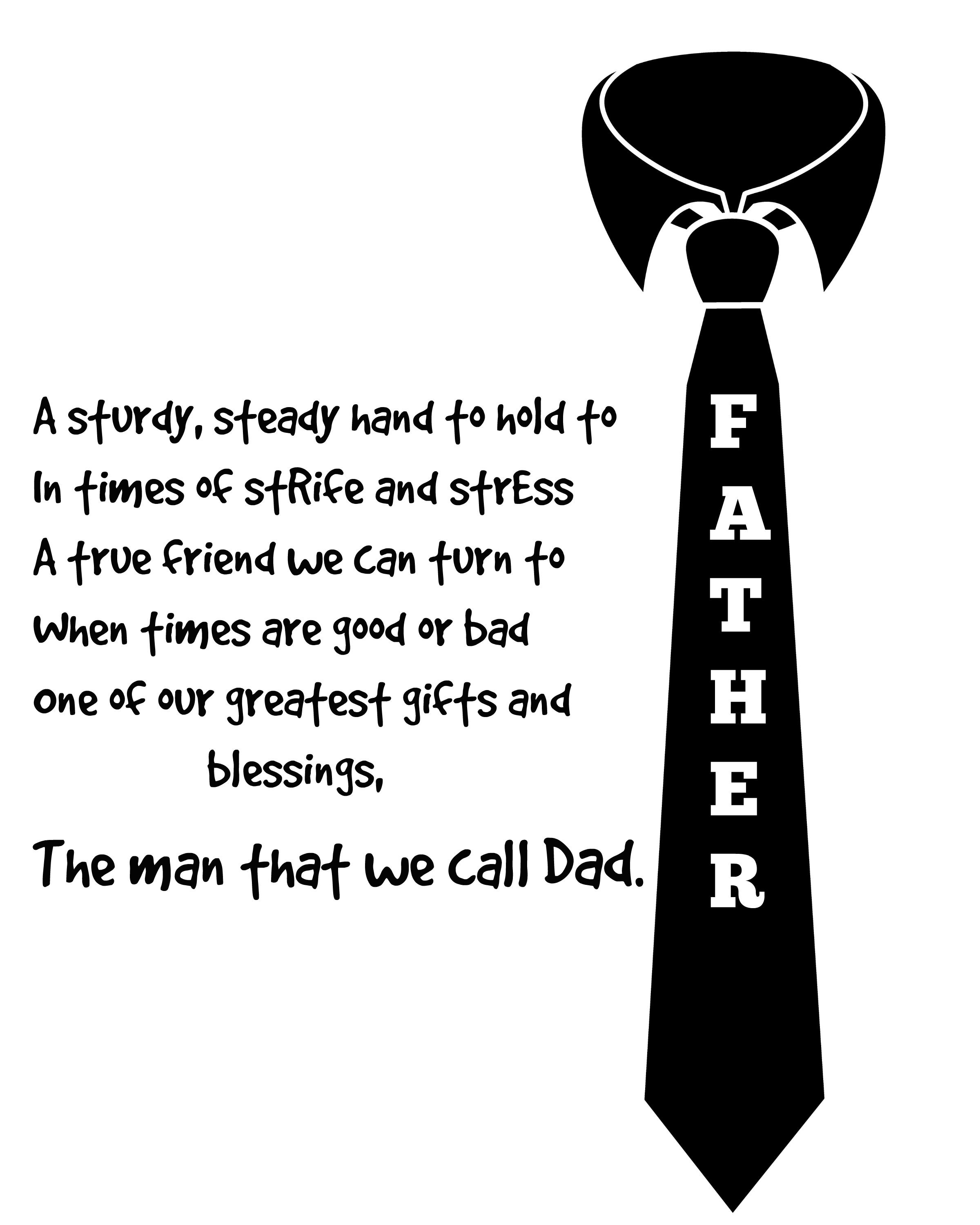 Father S Day Poem Printable