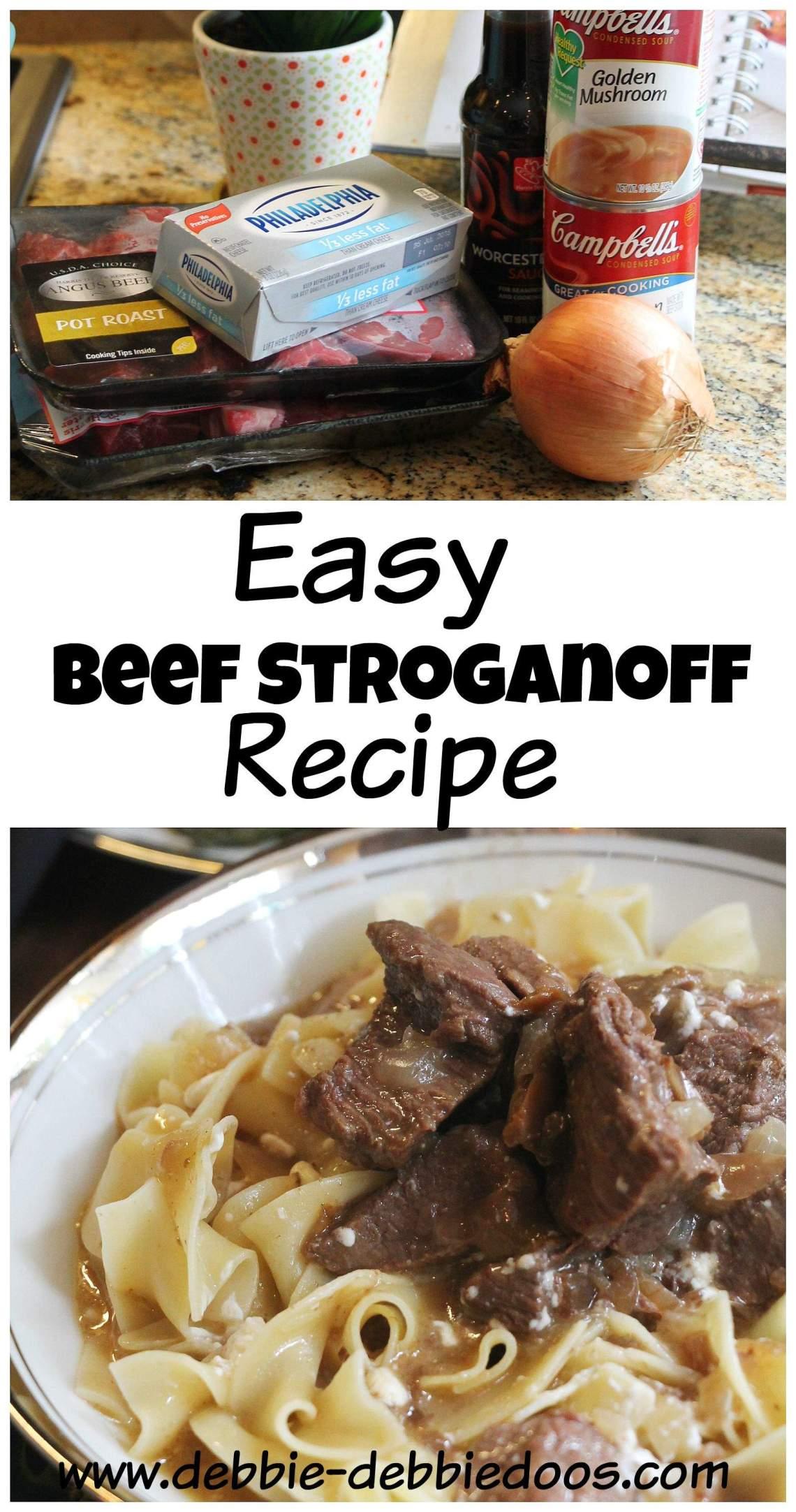 Fast and Easy Beef Stroganoff recipe - Debbiedoos