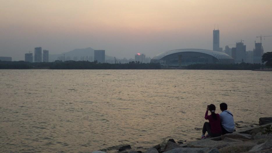 黃昏的深圳灣