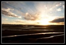 夕陽西下的黃河九曲第一灣