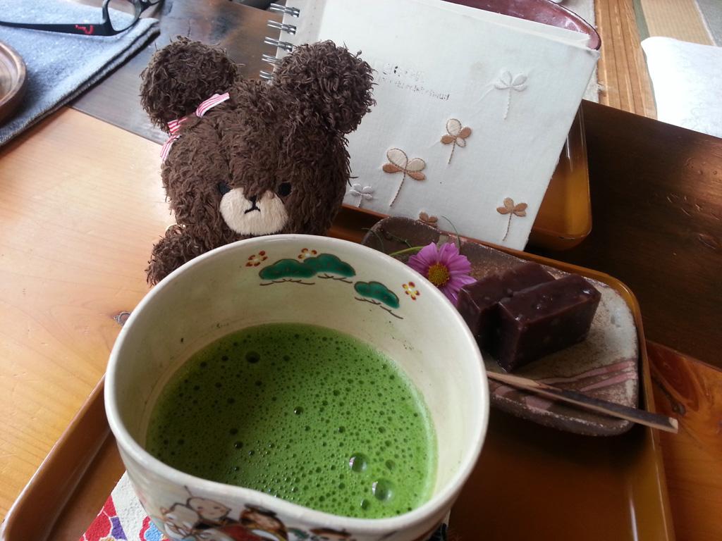 高原茶屋680円的抹茶set