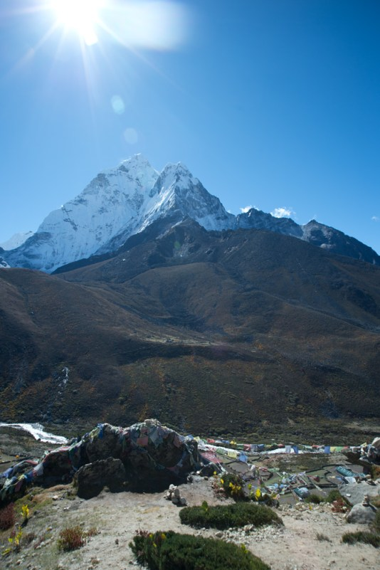 Our first stop. Looking down to Dingboche Valley