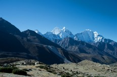 View of Pheriche valley on our way to Lobuche