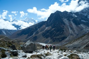 A group of porters on the trail