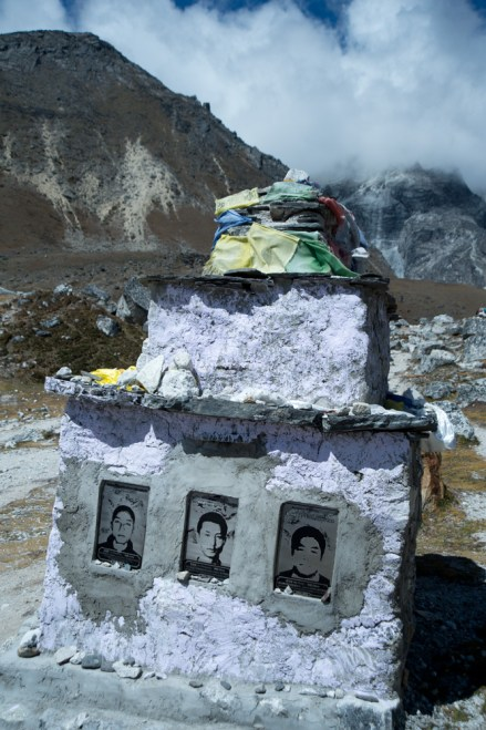 Chukpi Lhara and the stone memorials