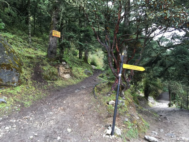 Intersection to Gokyo and Tengboche