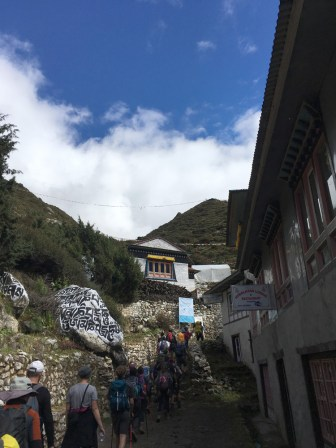 Passed by a village Pangboche