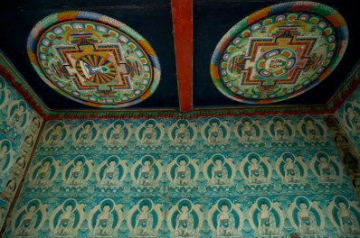 Buddhist paintings inside the gate