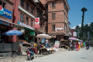 Shops along the street on the way to Pashupatinath Temple