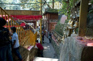 Non Hindus can go inside the temple area from this path