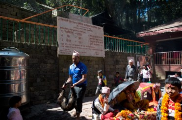 Animal sacrifice at Dakshinkali Temple