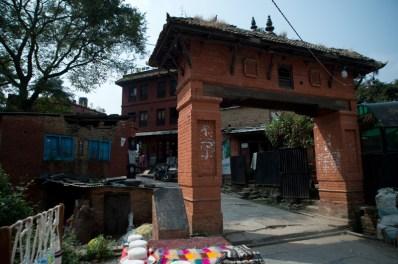 Entrance to Changu village