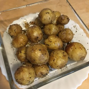 Baked potatoes with herbs & sea salt