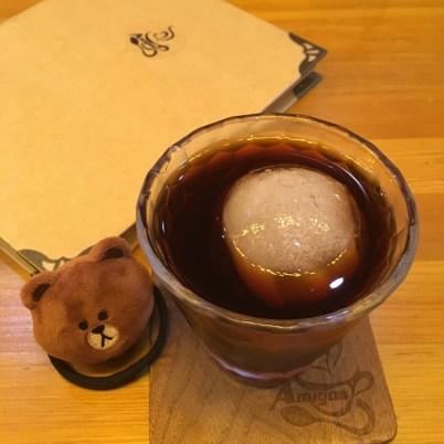 十月初五街一間咖啡店飲冰鎮咖啡