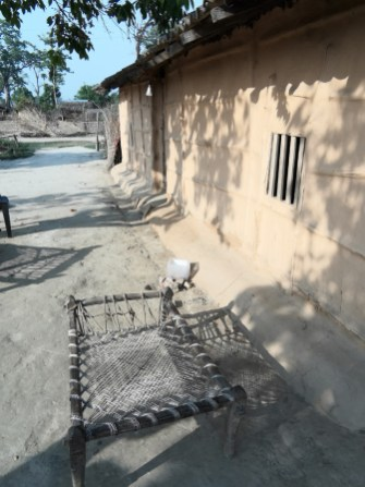 A typical Tharu bed