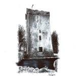 Thoor Ballylee, Gort, Co. Galway - Ballpoint Pen & Ink, 2015