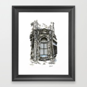 Marys Abbey - 2015 - Society6 Product - Framed Giclee Print