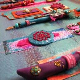 Debbie-Crothers-Polymer-Clay-Foils-Veneer-Texture-Tyvek-Mixed-Media