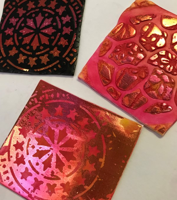 Debbie-Crothers-Polymer-Clay-Artist-Instructor-Foils-Stencils-Metallic-Shimmer-Pastels