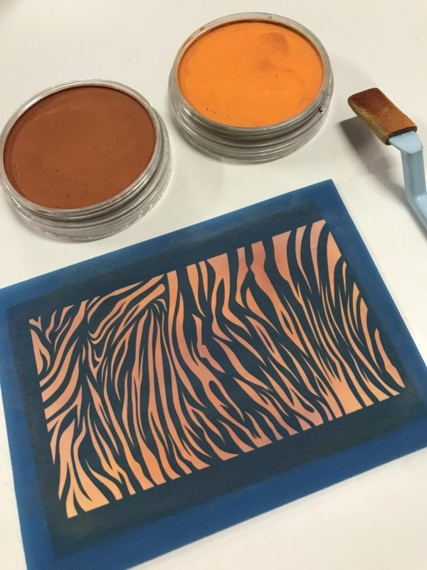 Debbie-Crothers-Polymer-Clay-Tutorial-Silk Screen-Pan Pastel-Polymer-Clay