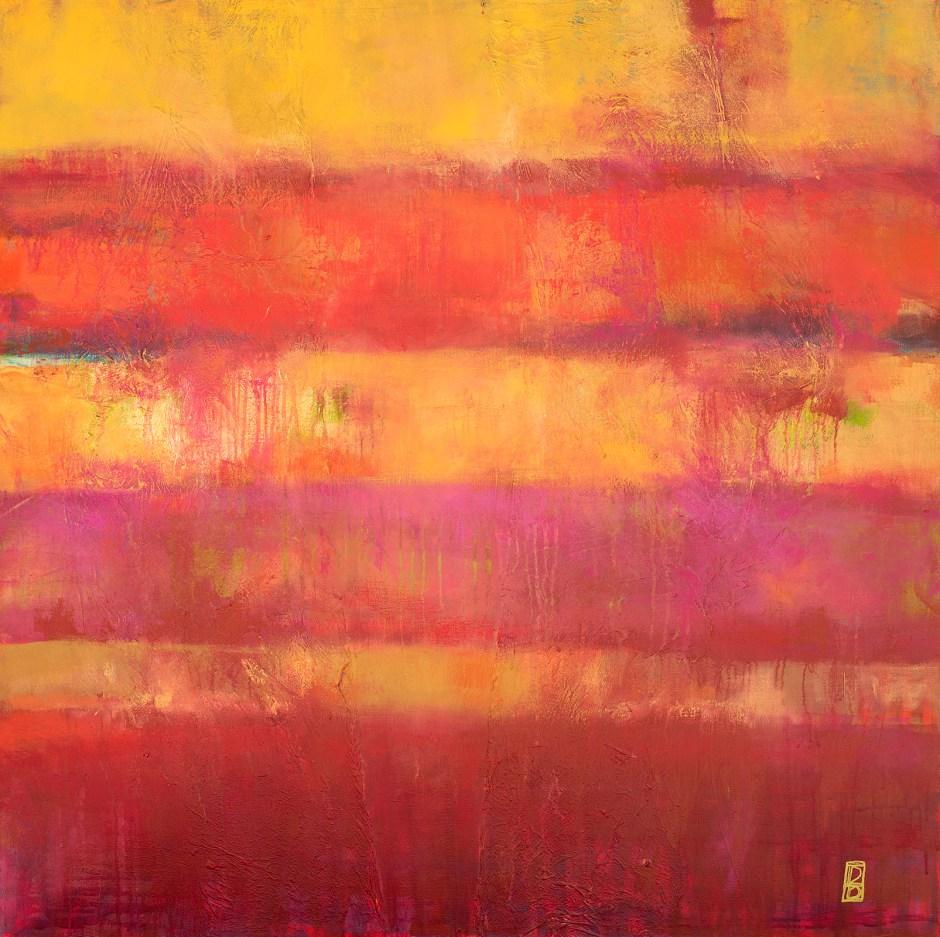 Fuscia Abstract