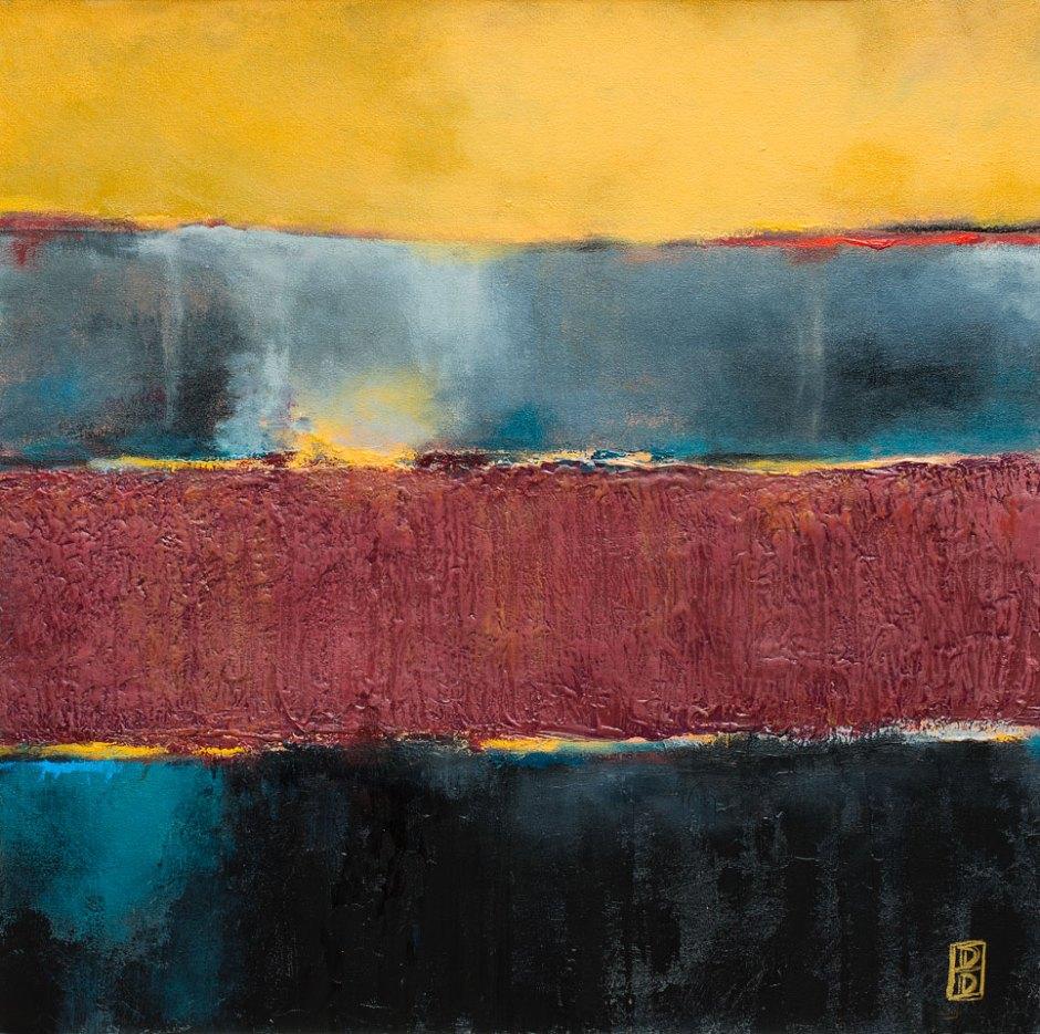 Gold & Garnet Abstract