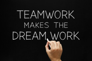 Teamwork is a key ingredient for full-time voiceover talent success!