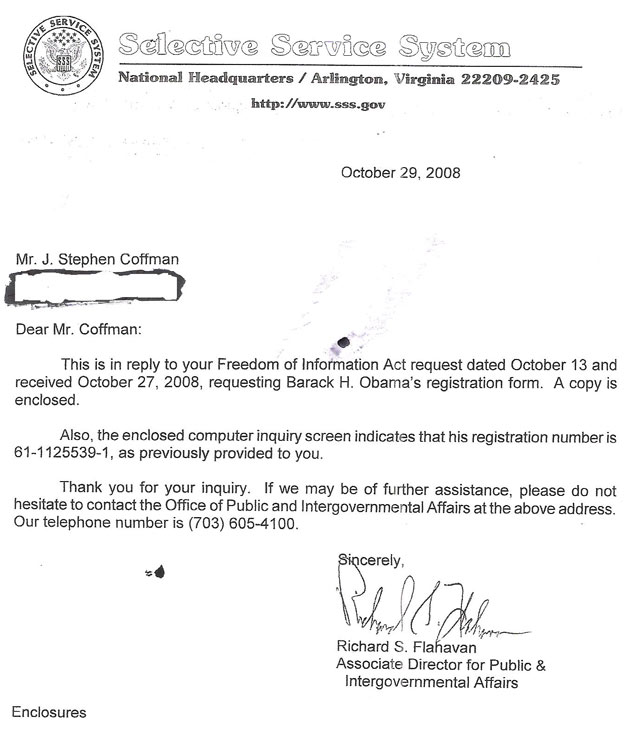 ObamaS Fishy Selective Service Registration  My Very Own Point