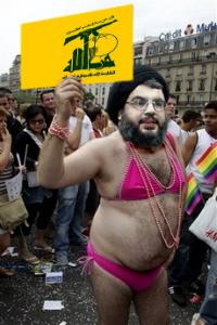 Hezbollah leader Nasrallah in character