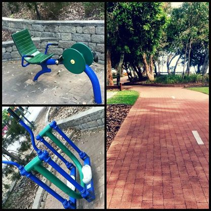 Exercise options along the esplanade in Hervey Bay