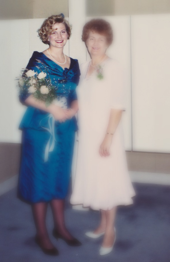 Bridesmaid for my brother & SIL. Pictured with mum.