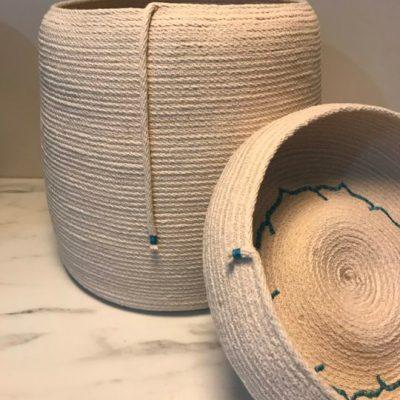 Blue Lotus basket and bowl