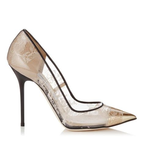 rejilla nude bordado jimmy choo