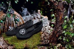 slippers bordados semitransparentes dolce gabbana