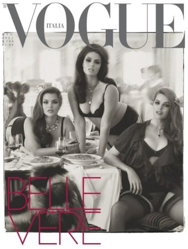 Belleza verdadera en Vogue Italia