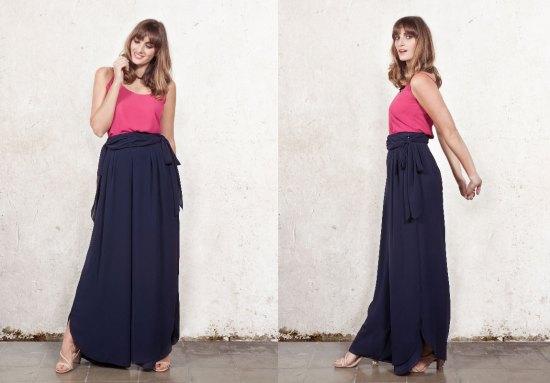 falda pantalón barea larga