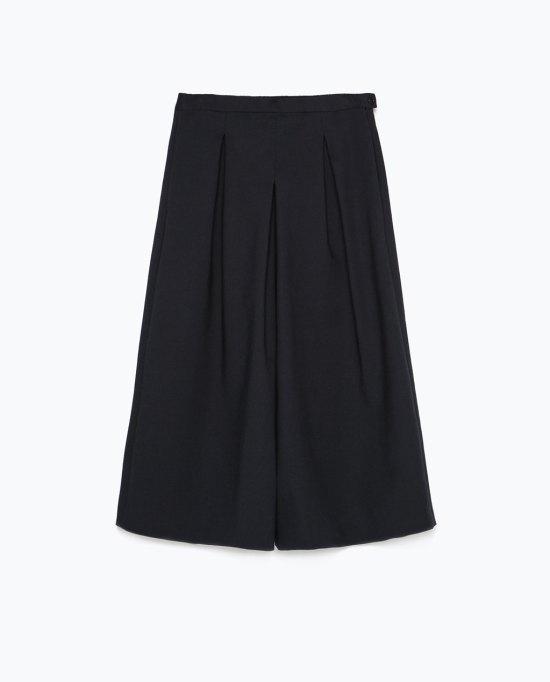 falda pantalón culot zara