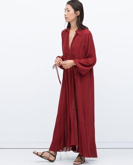 vestido fluido zara