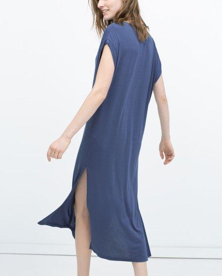 vestido holgado zara