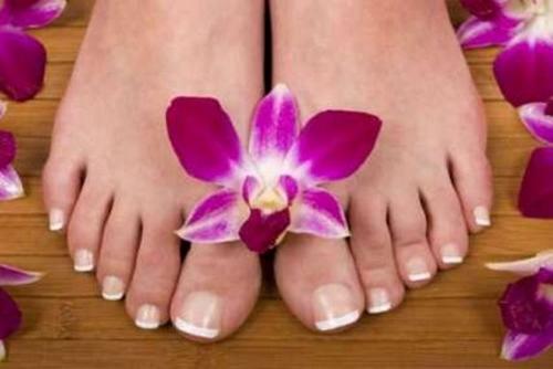 embellecer los pies secos