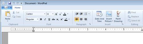 WordPad in Windows 7