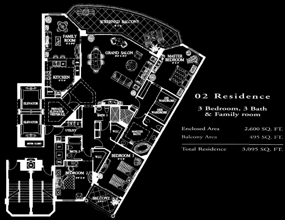 Salerno at Bay Colony 02 Floor Plan