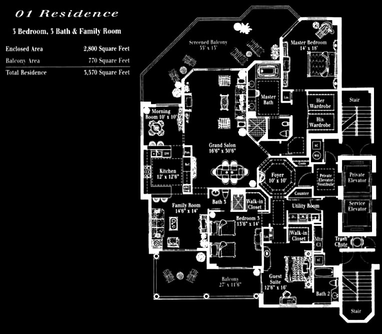 Toscana at Bay Colony 01 Floor Plan
