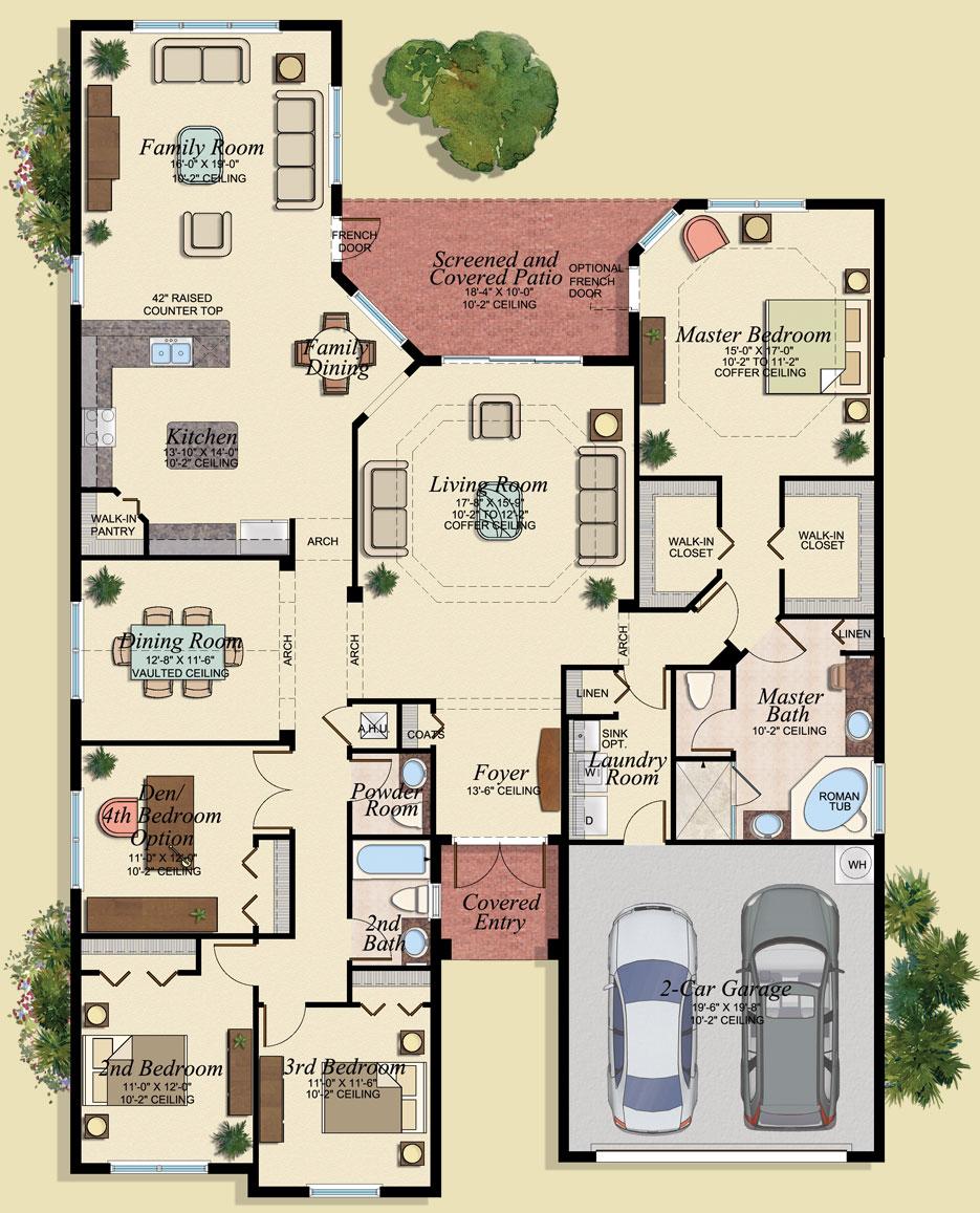 Vizcaya Floor Plan - Marbella Lakes