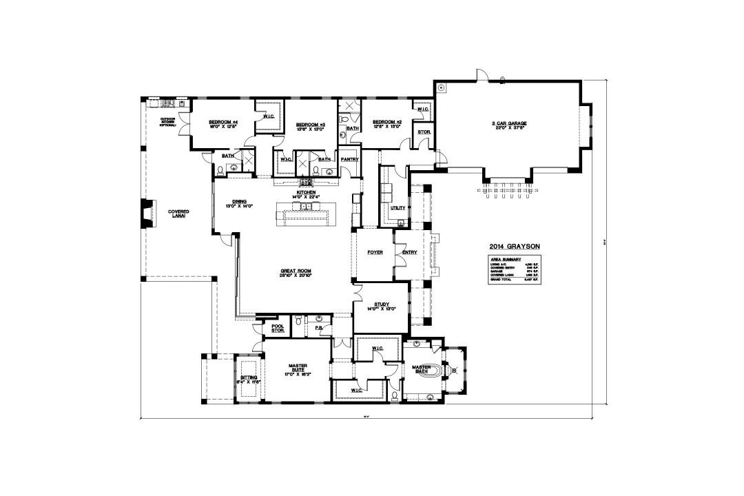 Stock Signature Homes Twin Eagles Grayson Floor Plan