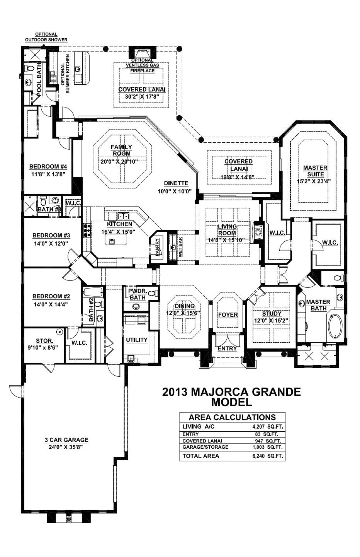 Stock Signature Homes Twin Eagles Majorca Grande Floor Plan